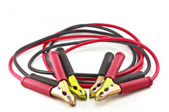 Jumper cables for jump starting a car.  stock images