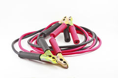 Jumper cables for jump starting a car Royalty Free Stock Photography