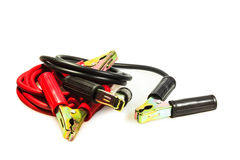 Jumper cables. One of the automotive emergency tool kit Royalty Free Stock Photography