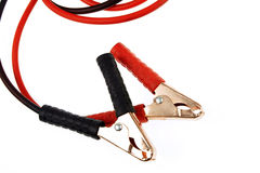 Jumper cables. On plain background Stock Photography