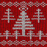 Jumper with Christmas tree pattern Stock Images