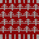 Jumper with Christmas tree pattern Stock Photo