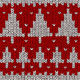 Jumper with Christmas tree pattern Stock Image