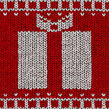 Jumper with gift ornament. Christmas background, jumper with gift ornament Stock Image