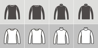 Jumper icon. Vector illustration of jumper and turtleneck, clothes icon Stock Image