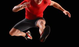 The jumper. stock photos