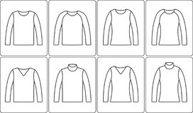 Jumper outline icon stock images