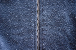 Jumper robe garment zipper worn fabric closeup Royalty Free Stock Photos