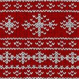 Jumper snowflake pattern Stock Image