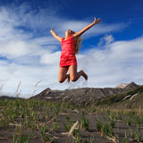 Jumping royalty free stock photography