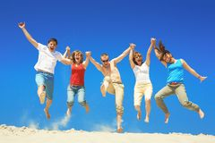 Jumping Royalty Free Stock Photo