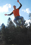 Jumping. Great jump of young man Royalty Free Stock Image