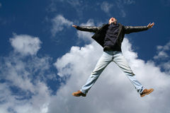 Jumping. Man jumping Stock Photography