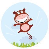 Jumping african cute monkey Royalty Free Stock Photo