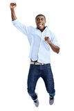 Jumping african man Royalty Free Stock Images