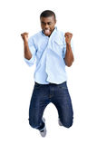 Jumping african man Royalty Free Stock Photos