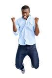 Jumping african man Royalty Free Stock Photos