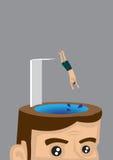 Jumping Ahead Vector Illustration Royalty Free Stock Image