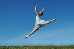 Jumping ballerina Stock Image