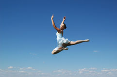 Jumping ballerina Stock Photography
