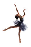 Jumping ballerina Royalty Free Stock Images