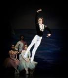 Jumping ballet dancer Royalty Free Stock Photos