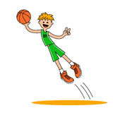 Jumping basketball player1 Stock Photos