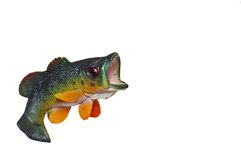 Jumping Bass. Model of a large mouth bass jumping out of water Royalty Free Stock Photography