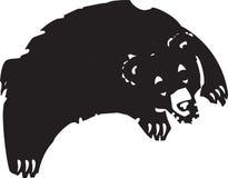 Jumping Bear Royalty Free Stock Image
