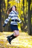 Jumping beautiful girl Royalty Free Stock Photo
