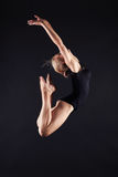 Jumping beautiful gymnast girl.beauty ballet woman Royalty Free Stock Images