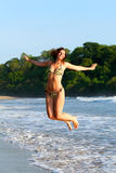 Jumping Beauty stock photos