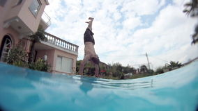 Jumping stock video footage