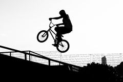 Jumping Bike Stock Photo