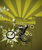 Jumping biker Royalty Free Stock Image