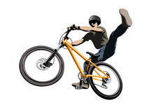 Jumping biker Stock Images