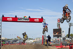 Jumping Bikes at Supercross Stock Photos