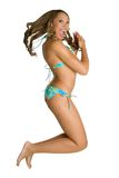 Jumping Bikini Girl Stock Photography