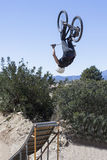 Jumping with BMX bike Stock Images