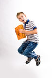 Jumping boy Royalty Free Stock Photography