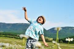 Jumping boy Royalty Free Stock Photos