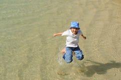Jumping Boy Stock Image