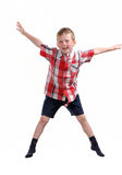 Jumping boy Stock Images