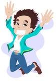 Jumping boy stock illustration