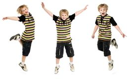 Jumping boy Royalty Free Stock Image
