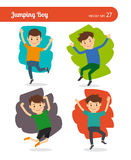Jumping boy character Stock Image