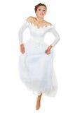 Jumping Bride Royalty Free Stock Image