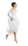 Jumping Bride Stock Photography