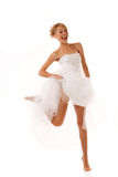 Jumping bride Royalty Free Stock Photo