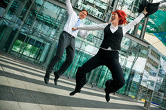 Jumping Business People Royalty Free Stock Image